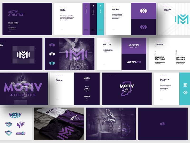 Motiv Athletics | Brand Guidelines logo branding typography indianapolis gym indy indiana mark brand guidelines style guide idenity brand identity crossfit fitness athletic branding athletic logo