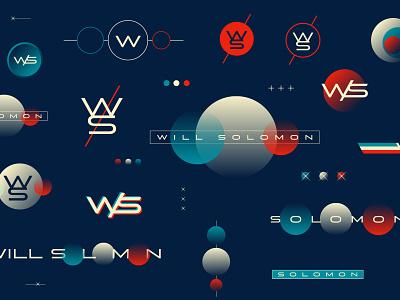 Will Solomon | Blue Earth, White Sun, Red Mars star sun mars earth planet monogram space branding logo typogaphy badges