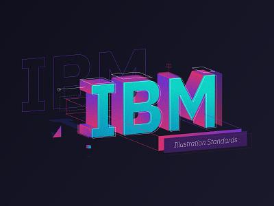 IBM | Illustration Standards bacon branding vector lettering typography type isometric design illustration ibm plex ibm ibm design isometric trimetric