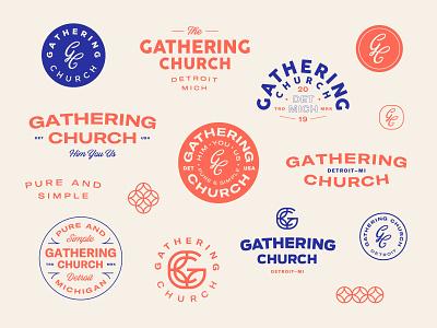 Gathering Church   Artboard mark badges branding design circle monogram jesus church badge logo branding