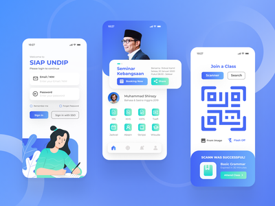 Academic Information for College Student Mobile App Concept student website ui typography illustration graphic design design web app