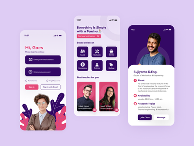Learning & Education  App app blur clean academic team pink class purple glassmorphism ux ui student find study education learn teacher