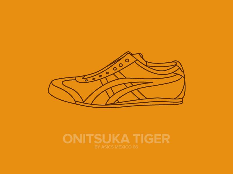 Asics Tiger Illustration illustration illustrator design shoes fun color bright asics