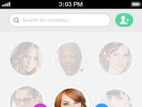 Contacts concept front