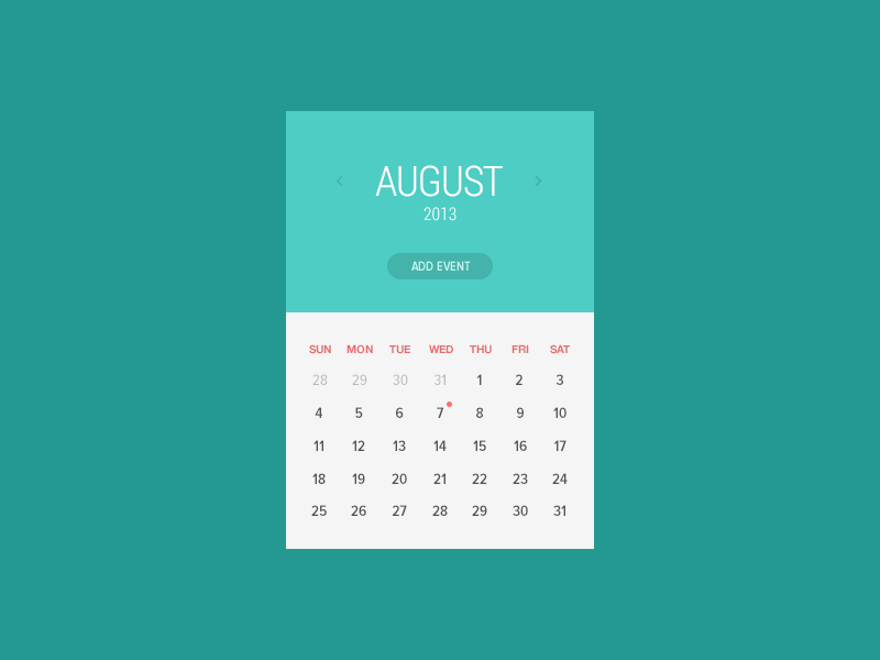 [Freebie!] Calendar Window calendar flat ui design freebie photoshop psddd