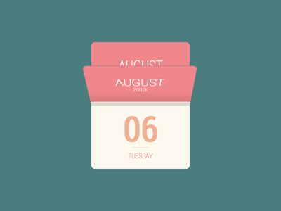 Calendar Mini mini calendar flat widget design photoshop august