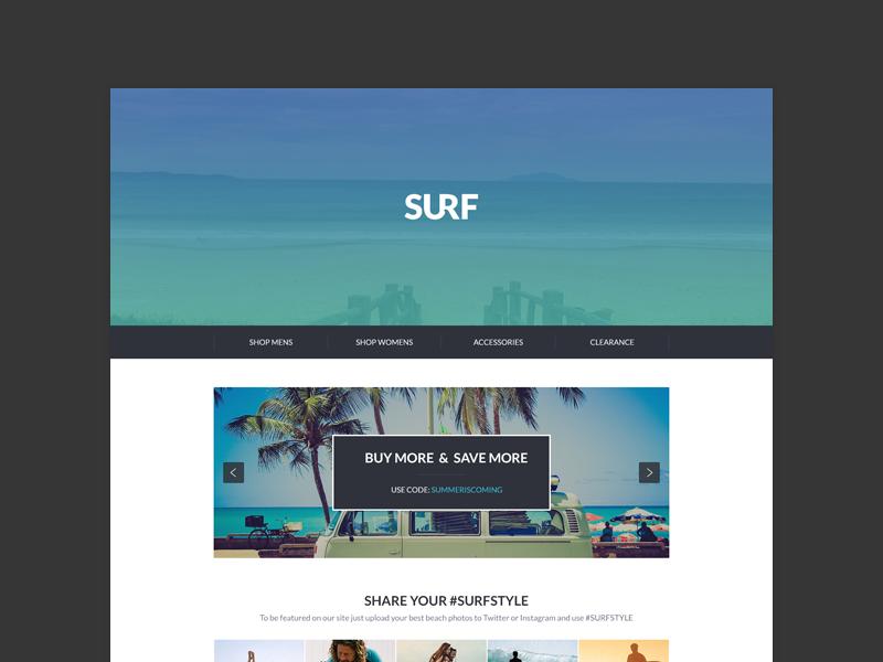 More Theme'n - Surf Shop theme surf surfing summer shop