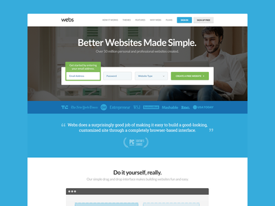 Webs Redesign - Homepage