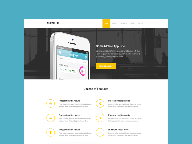 Simple Mobile App Theme mobile app theme website simple clean design iphone