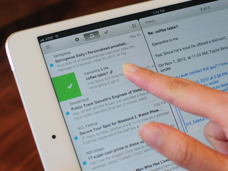 how to add a folder to ipad mailbox