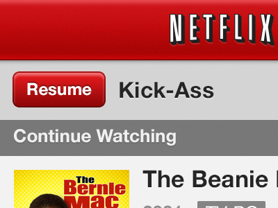 Netflix Refresh iphone4 retina ui netflix redesign