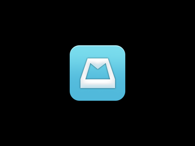 Mailbox App Icon Study iphone icon app ios mailbox email