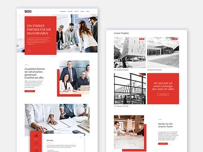 Webdesign for Construction Engineering Company roromedia drupal ux ui