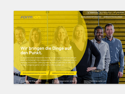 Website for Formwork Components webdesign drupal roromedia