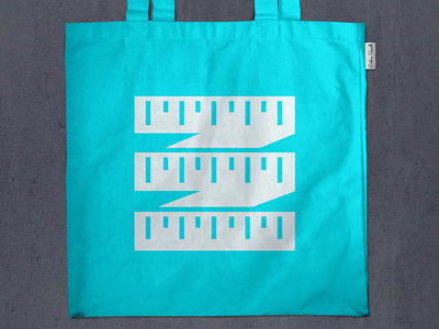 Ruler Tote Bag Mockup for Client logo branding identity screen printing tote bag