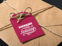 Holiday Gift Tag Mockup