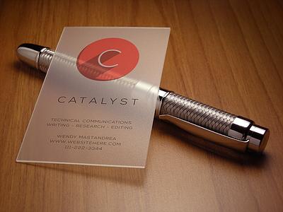 Catalyst Brand Concept (Logo + Cards) business cards logo brand
