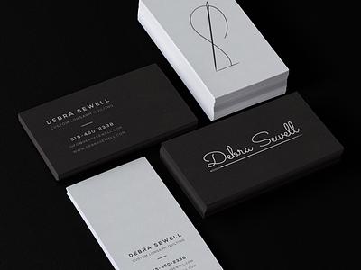 Black & White Letterpress Business Cards letterpress branding identity business cards black and white
