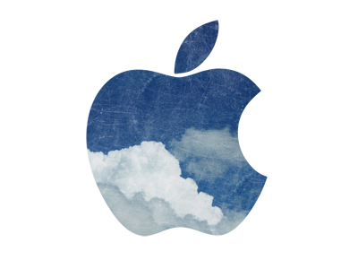 Apple in the Sky steve jobs apple rip sad sky clouds blue white texture