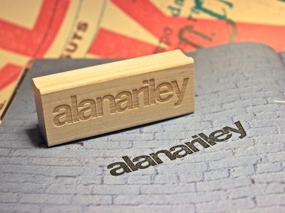 Alana Helvetica Stamp helvetica stamp typography branding identity personal branding ink rubber stamp wood