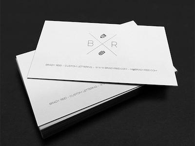 Brady Letterpress Card identity branding ink print paper business card mockup black and white letterpress mamas sauce online shop
