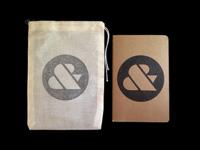 Ampersand Moleskine & Muslin Bag