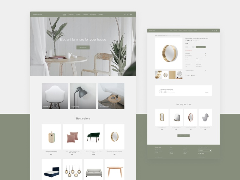 Concept e-commerce furniture store website ui design uiux ux design minimalism minimalistic e-shop ui webdesign furniture store e-commerce design e-commerce shop