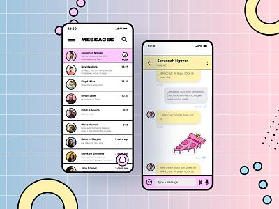 Messaging Mobile App design 013 messenger mobile appdesign app webdesign ui ux uidesign dailyui design uiux dailyui013 dailyuichallenge