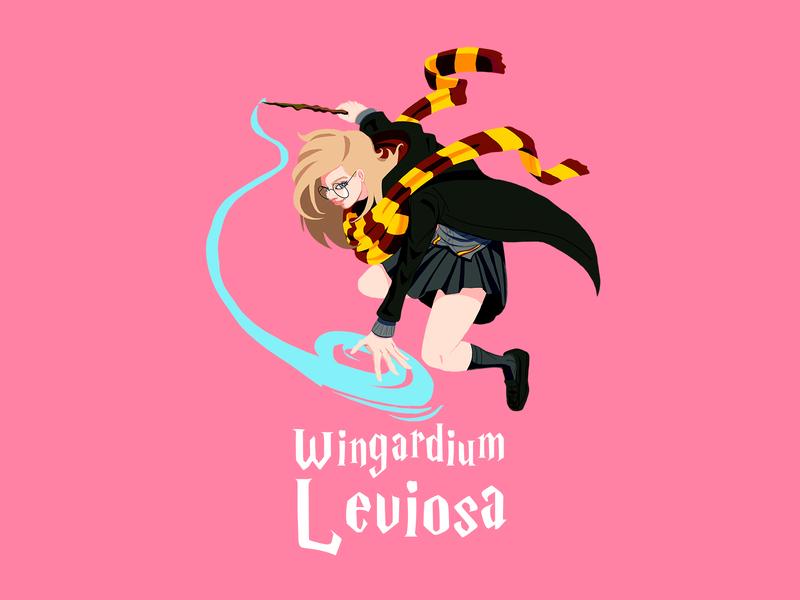 Wingardium Leviosa Harry Potter Blonde Girl