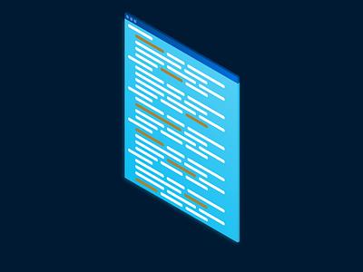 Isometric Window code illustrator design art isometric