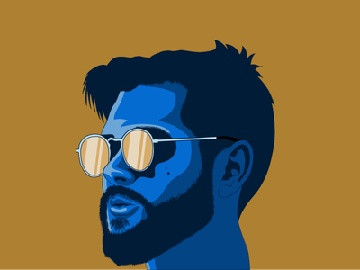 Portrait art cartoon portrait vector illustrator design