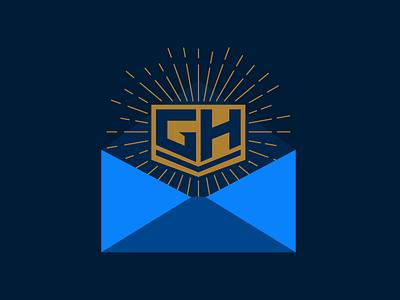 Logo Sunburst inside Envelope art design illustration ui vector illustrator email template email design sun envelope sunburst logo template email
