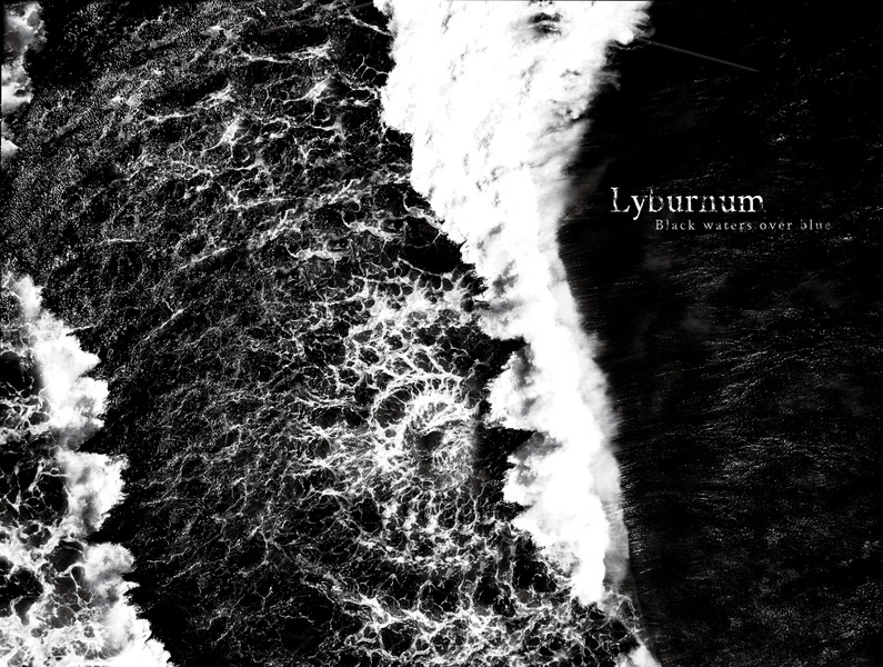 "Music Album: Lyburnum - ""Black waters over blue"" (2020) album cover design album cover album art music art"