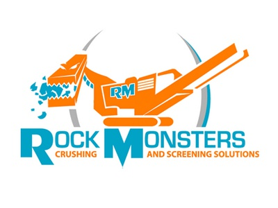 Rock Monsters logo branding identity construction rock