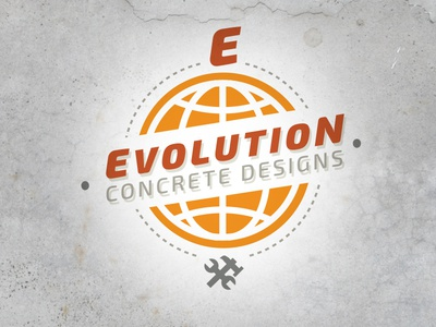 Evolution Concrete Design branding identity