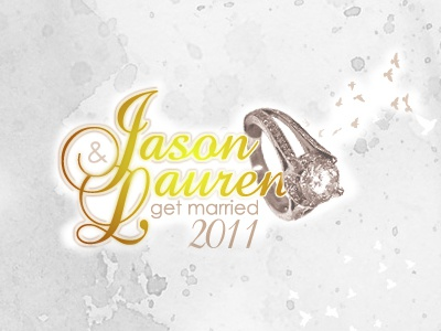 Jason & Lauren Get Married 2011 branding identity