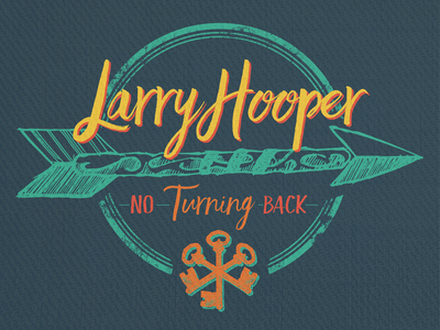 Larry Hooper - No Turning Back - Album Packaging illustration album artwork packaging design music