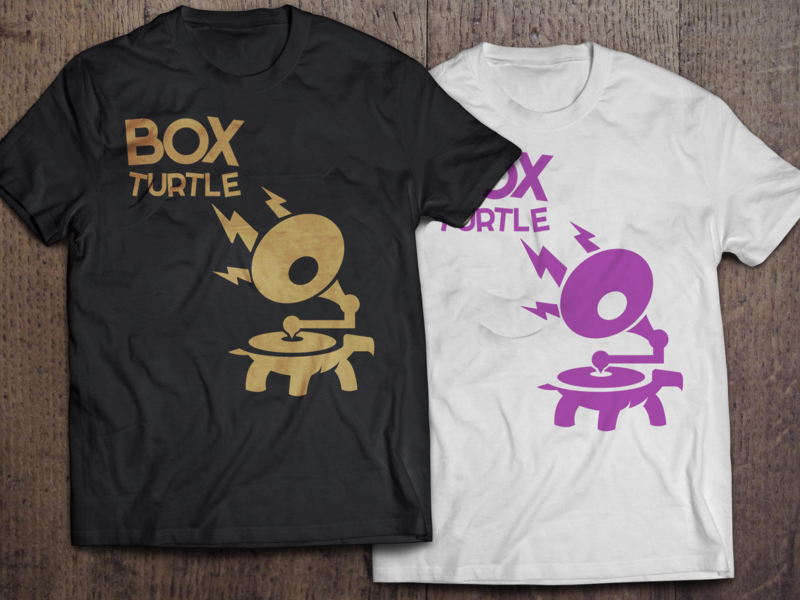 Box Turtle Promotional Design merch design promotional band art illustration