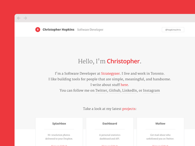hopkins.io interaction typography portfolio web