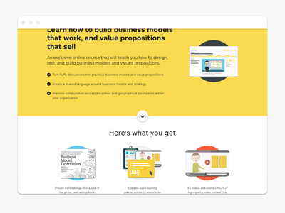 Strategyzer - Prosumer Course Landing Page business model generation business model canvas landing-page course illustration marketing ui