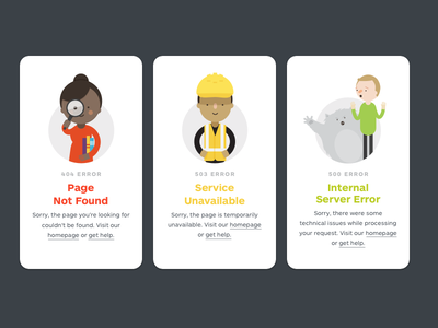 Strategyzer -  Error Pages error-pages illustrations error cards ui