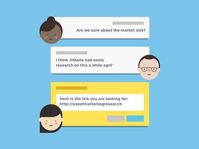 Strategyzer - Messsages messages flat illustration ui