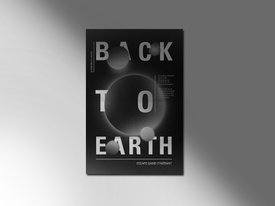 Back to earth earth space poster design graphic design