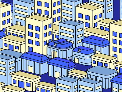 GBC city illustrator webdesign design illustration graphicdesign