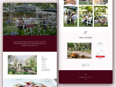 Wine Bar Website Design bar webdesign wine website