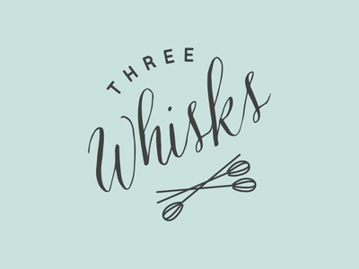 Three Whisks Branding branding logo