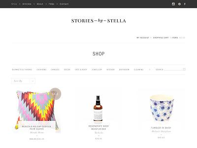 Shop Page Design shop design web design