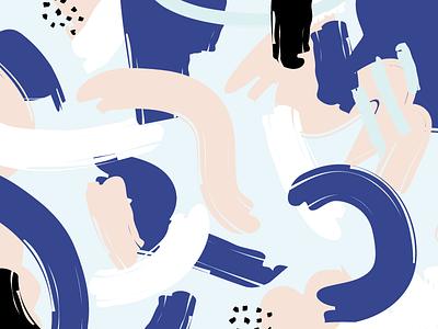 Chunky Pattern branding brush stroke pattern