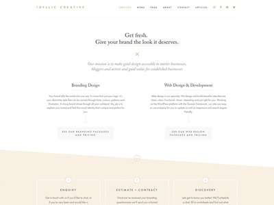 Idyllic Creative Website Design branding website design