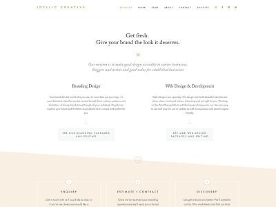 Idyllic Creative Website Design branding website design